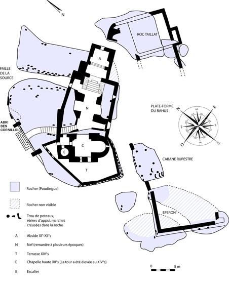 plan-de-la-parte-centrale-du-site-archeologique-de-vals