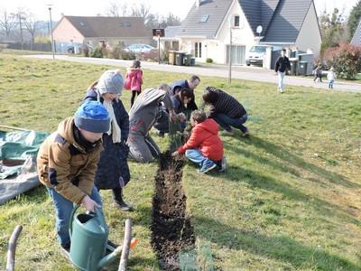enfants-et-adultes-plantent-les-arbustes