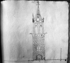 dessin-dun-clocher