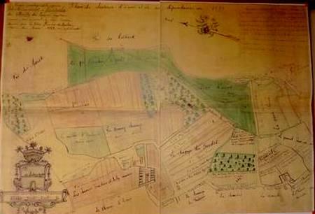 plan-du-chateau-devans-et-dependances-1781